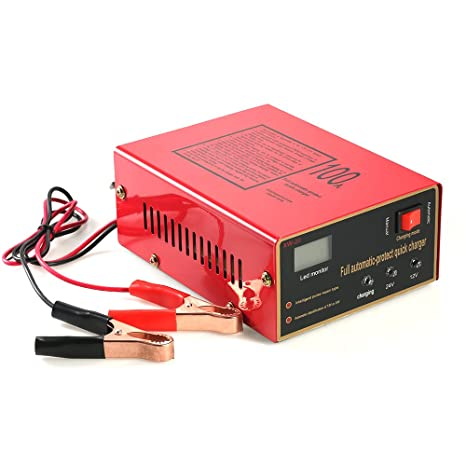 Walmeck - Cargador automático inteligente de 12 V/24 V para ...