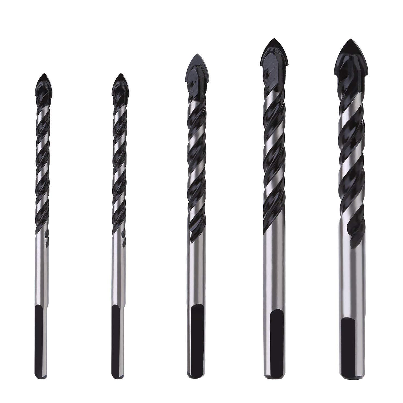 OCGIG 5 Piezas Hex Brocas de Vidrio Juego de Taladro de Cristal 3mm, 4mm, 6mm, 8mm, 10mm