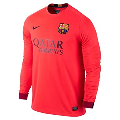3aed5aeb60b Amazon.com  Nike Barcelona Long Sleeve Away Jersey 2014-2015  Clothing