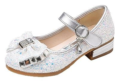 55a8be403e12a Snone Bébé Fille Princesse Chaussures Ballerines Mary Jane Chaussures  Étudiants et Automne Coréenne Style Glitter Fille
