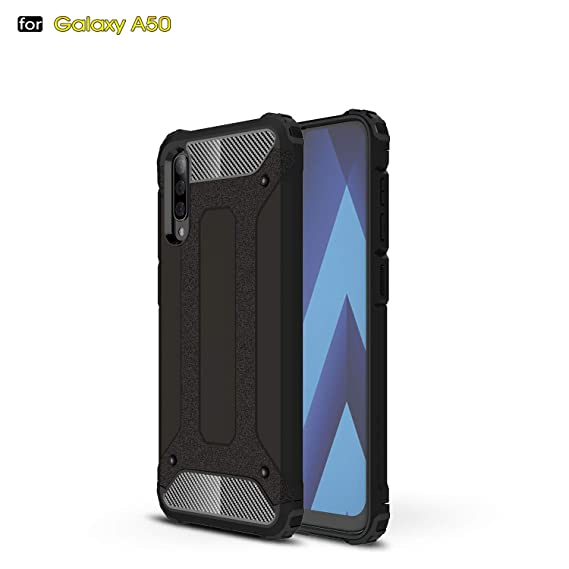 Amazon.com: FAIRYCASE Galaxy A50 Case PC Hard Shell + TPU ...