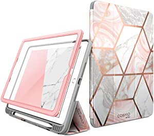 i-Blason Case for iPad 6th Generation, iPad 9.7 Case 2018/2017, [Built-in Screen Protector] Full-Body Trifold [Cosmo] Smart Cover with Auto Sleep/Wake & Pencil Holder for Apple iPad 9.7 Inch (Marble)