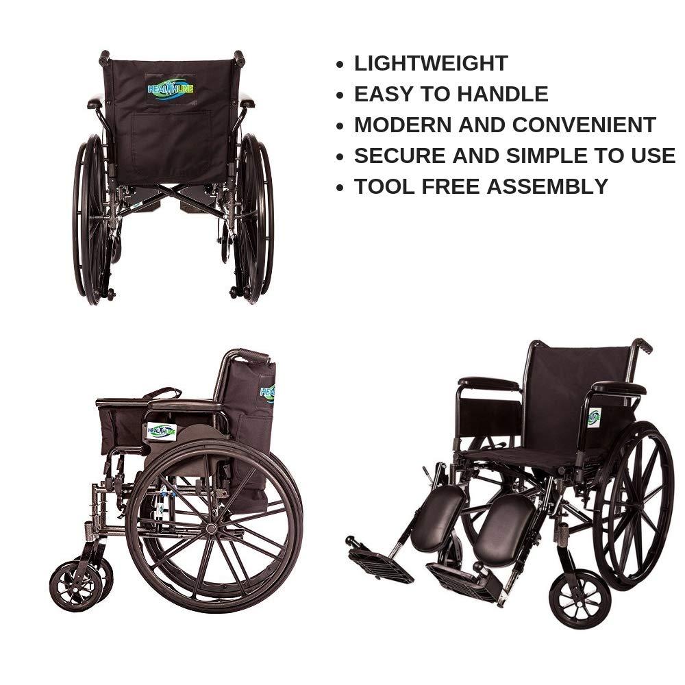 Amazon.com: Ligera silla de ruedas plegable desmontable ...