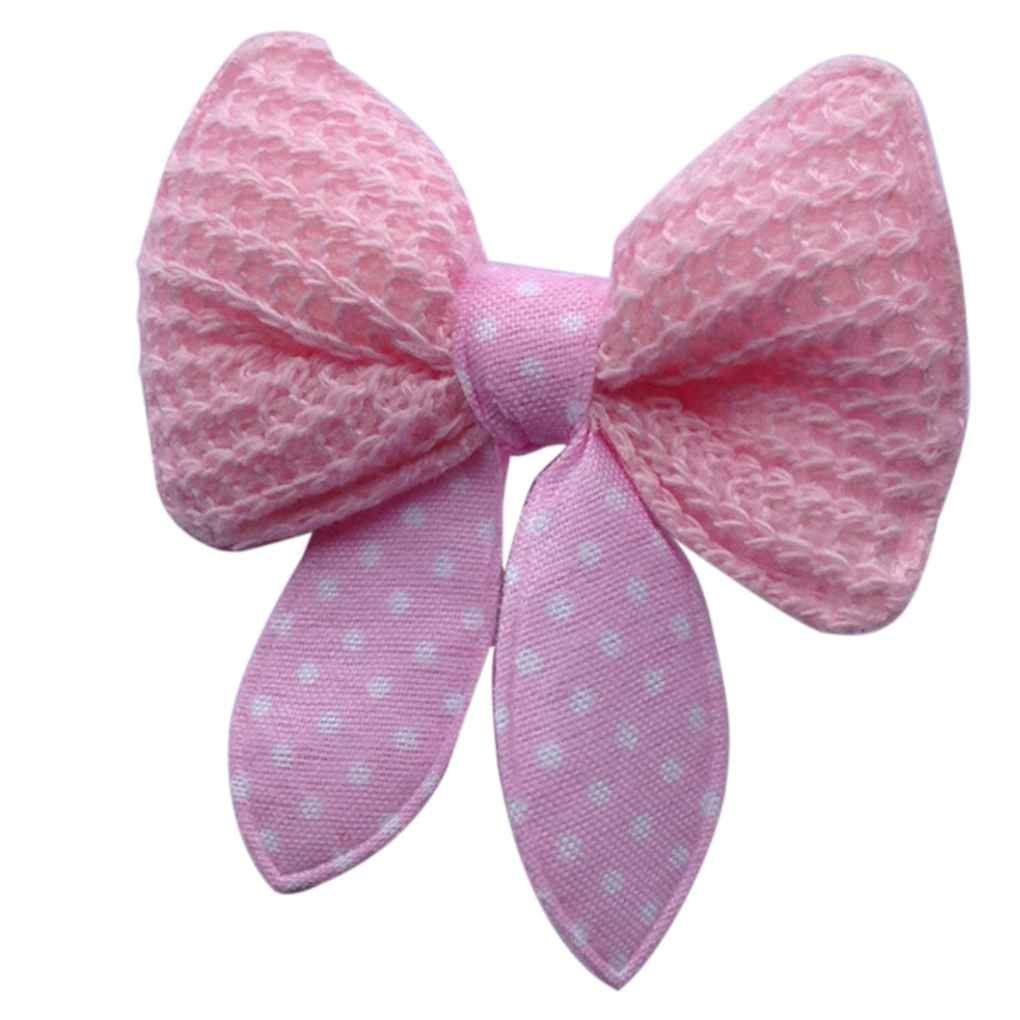 Omkuwl Pet Hair Clip Dog Cat Bows Butterfly Grooming Clipper Clips Accessories Pink