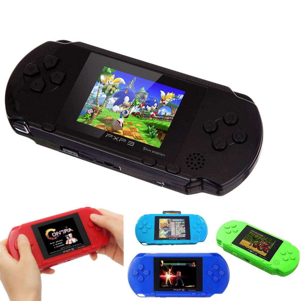 callm Handheld Game Console,2.7 inch Color Digital TFT Screen Handheld Video Console Street Fighers Final Fight Game Player - Build in 999888 Games (Black) by callm (Image #2)