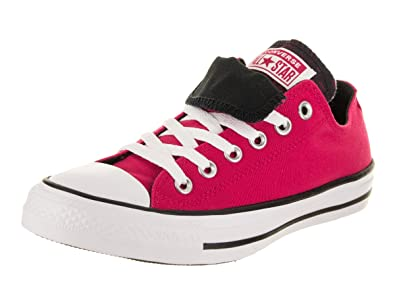 910c714b43e2 Converse Women s Chuck Taylor All Star Double Tongue Ox Pink  Pop White Black Casual
