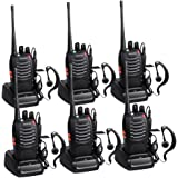 Proster Walkie Talkies 3 Pairs Rechargeable Walkie Talkie with USB Charger And Earpieces UHF 400-470 MHz 16 Channel Walky Talky Two Way Radio Transceiver (Pack of 6)