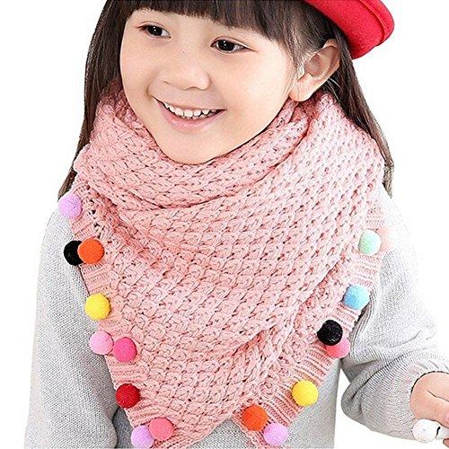 Butterme Kinder-Baby Warm Winter-Schal Nackenwärmer Stricken Wolle Süßigkeit färbt Strickschals Weihnachtsgeschenk