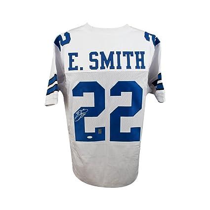 newest collection edc66 4f3e1 Emmitt Smith Autographed Dallas Cowboys Custom White ...