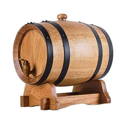 Barril de Vino Madera Roble Natural Whisky Barril Horneado Interior Hecho a Mano carbonizado para envejecer