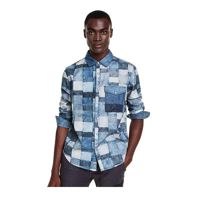 Desigual - Camisa Tony Hombre Color: 5053 Talla: Size XL: Amazon ...