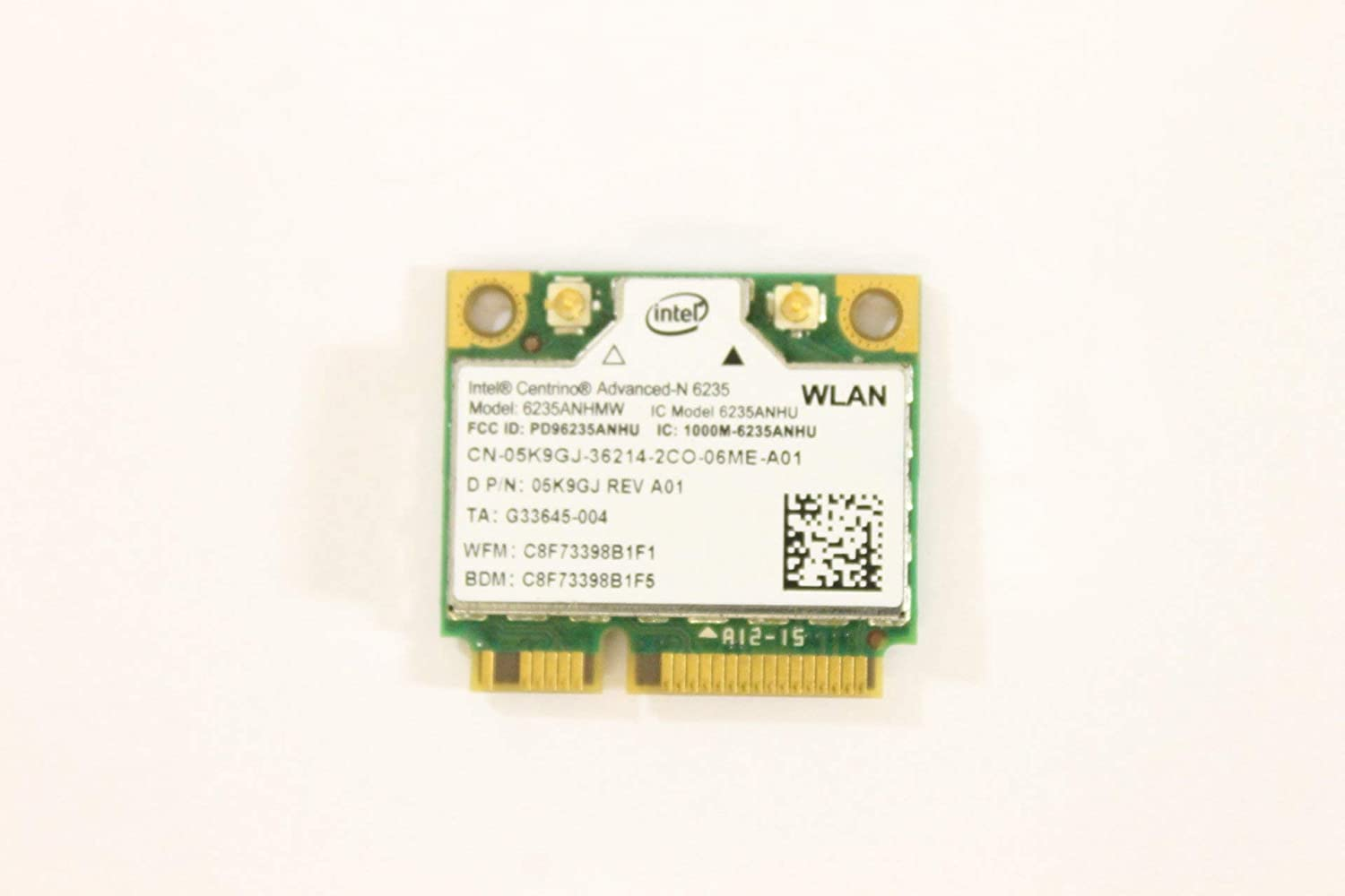 Dell Mini PCI Express Half Height 5K9GJ WLAN WiFi 802.11n Wireless Card 6235ANHMW Inspiron 5521