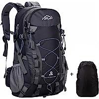 Meisohua Wasserdichter Rucksack 40L Leicht, Erwachsene Wanderrucksack Manner Frauen Outdoorrucksack für Klettern Camping Reiten Reisen Freizeit, für 15.6 Zoll Laptop