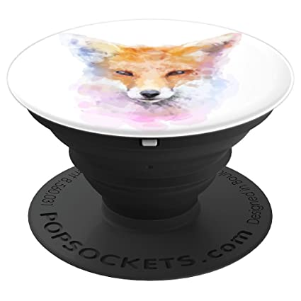 Amazon.com: Watercolor Fox Face – Hermoso cabezal de zorro ...