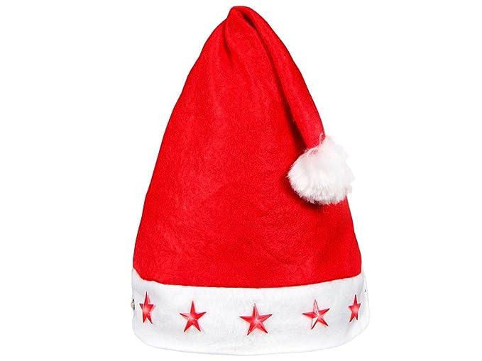 Set di 6 Cappelli da Babbo Natale a Luci LED rossi con Pon Pon (wm ... 259006a10c9c