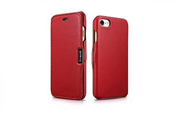 e6af357672 iPhone7/7 Plusケース 本革 手帳 オイルレザー ブランド ICARER マグネット式 iPhone7 ケース