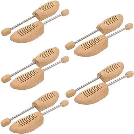 44-45 WIS 5 Paar Holz Schuhspanner Schuhstrecker Spiralfeder Lotusholz Schuhformer Schuhformer Gr