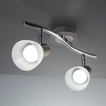 Deckenstrahler Design LED Deckenlampe Chrom Deckenspot Leuchte Deckenleuchte NEU