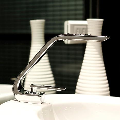 POP Chrom Wasserhahn Bad Waschbecken Wasserfall Waschtischarmatur Einhebelmischer Badarmatur Mischbatterie Waschbeckenarmatur