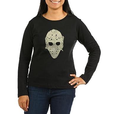 9f0d233f84e CafePress - Vintage Hockey Goalie Mask (Dark) Women s Long SLE - Women s  Long Sleeve