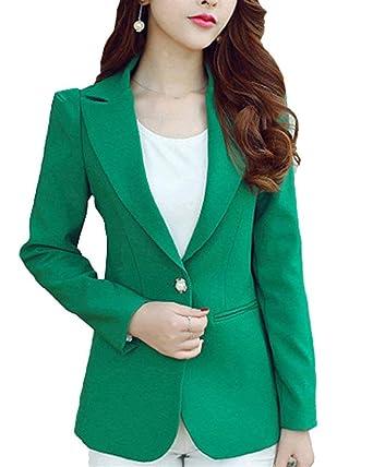 a9c0a5581f3 Femme Blazer Affaires Automne Veste Slim Fit Manches Longues Revers Button  Couleur Unie Vêtements Manteaux De
