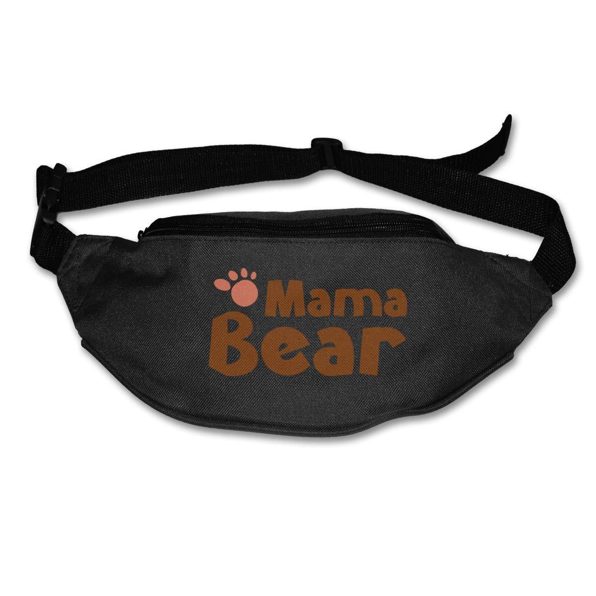 Mama Bear Cute Paw Sport Waist Bag Fanny Pack Adjustable For Hike