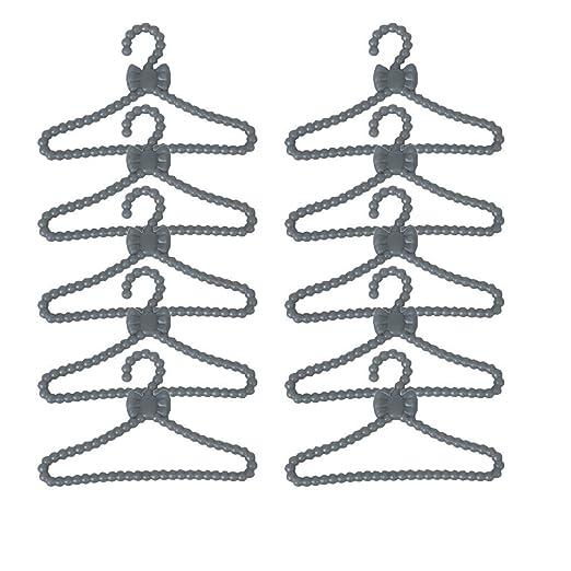 12 x plástico muñeca ropa/perchero percha para muñecas de 30 cm