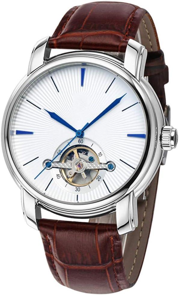 Liandd Skeleton Tourbillon Reloj Hombres Reloj de Oro Reloj de Pulsera de Negocios Reloj para Hombre Reloj mecánico automático