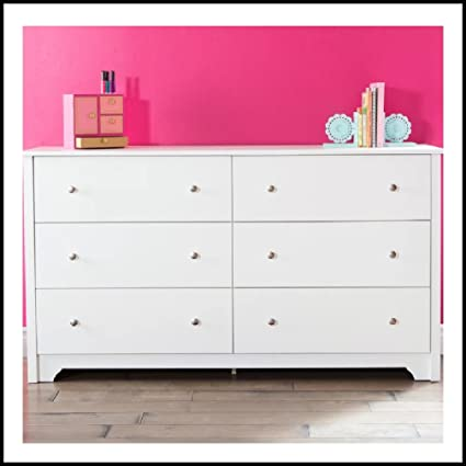 Amazon.com: Modern Double Dresser   Traditional Six Drawer ...