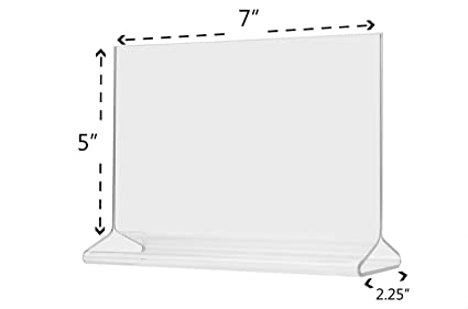 Amazon.com : Marketing Holders Small Ad Frame Table Top Loading, Double-sided Table Sign Holder, Clear Acrylic Frame 7 x 5 Inches : Business And Store Sign ...