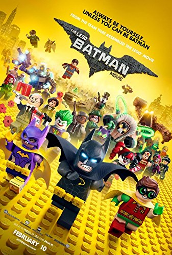 (LEGO BATMAN Original Authentic Movie Promo Poster 11x17 - Will Arnett - Zach Galifinakis - Rosario Dawson - Jonah Hill - Michael Cera)