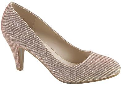 Bella Marie Womens Nine1 Suede Almond Toe Classic Pumps Stiletto Party Dress Heel  B017KSDYZW