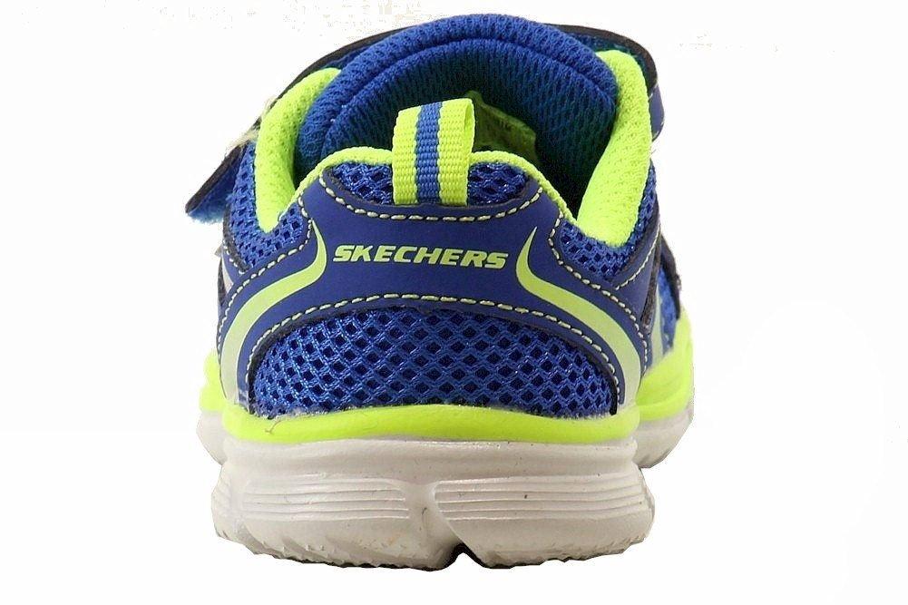 Skechers Kids 95083N Speedees - Burn Outs Sneaker,Blue/Lime,6 M US Toddler by Skechers (Image #4)