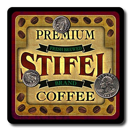 Stifel Coffee Neoprene Rubber Drink Coasters   4 Pack