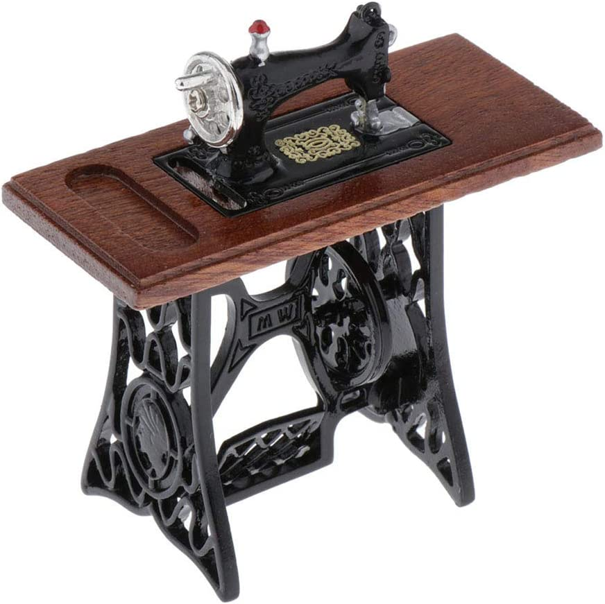 Amazon.es: SM SunniMix Modelo de Mini Máquina de Costura para Decoración de Muebles Casa de Muñecas - 7 x 3 x 7 cm: Juguetes y juegos