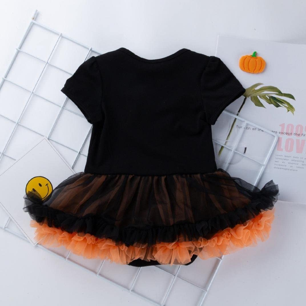Showking@ Baby Girls Halloween Dress,Infant Toddler Baby Girls Pumpkin Bow Party Dress Clothes Dresses