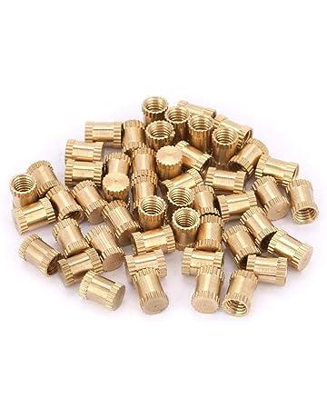Kit de surtido de tuercas de inserci/ón con rosca moleteada de lat/ón con rosca M2.5 M2.5 * 3 * 3.5(100pcs)