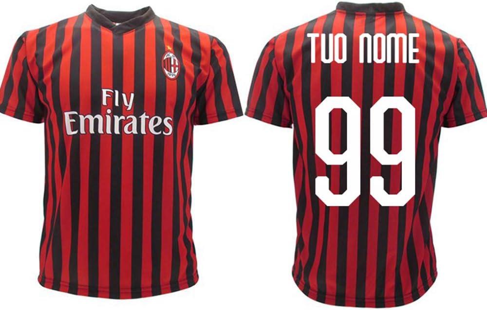 Calcio Maglia Milan Ufficiale Personalizzata 2019 2020 AC Milan ...