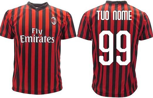 Camiseta oficial del Milan 2019 2020 AC Milan para adulto, niño, nombre y número a elegir: Amazon.es: Ropa y accesorios