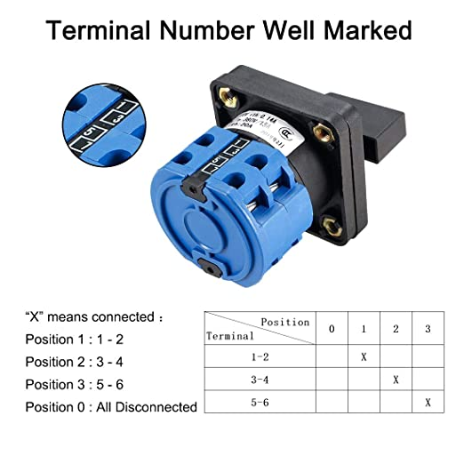 Baomain Master Switch Exterior Box SZW26-20 Work for Universal Rotary Changeover Cam Switch SZW26-20//0-3.2 660V 20A 4 Position
