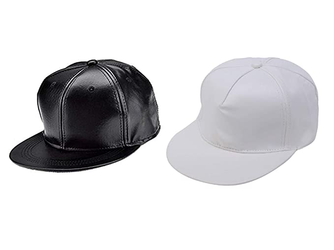 8fbc26545a8 Babji Unisex Leather Hip-Hop Cap Combo (Black