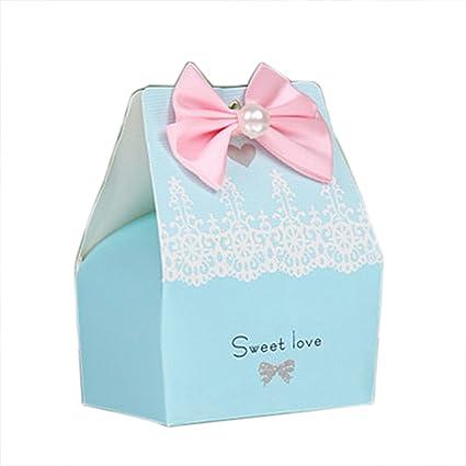 Amazon Com Autulet Exquisite Blue Wedding Favor Boxes Bridal Shower