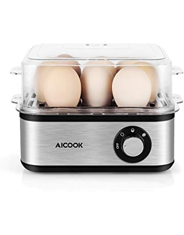 Egg Cooker Aicook Rapid Egg Cooker with Auto Shut off, 8 Egg Capacity Electric Egg