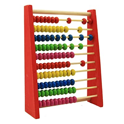 FuTaiKang Children 20cm Wooden Bead Abacus Counting Frame 100 Beads Educational Learn Maths Toy: Toys & Games