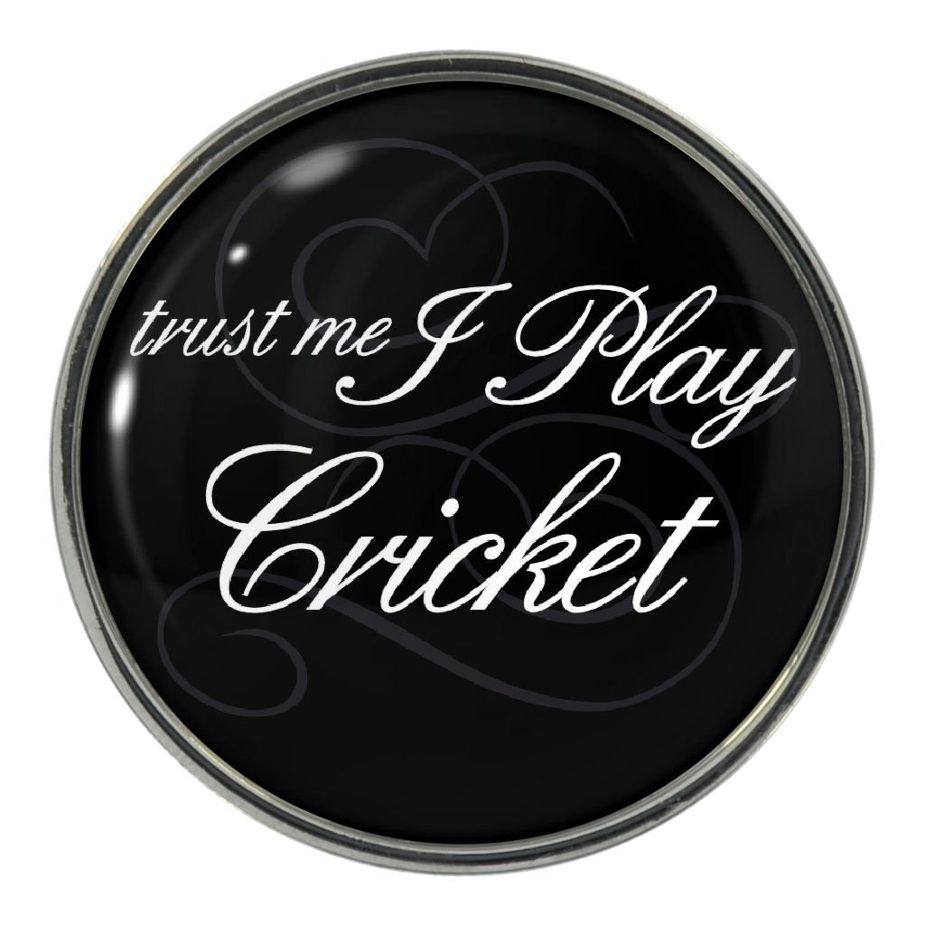 Amazon com: Trust Me I Play Cricket Metal Pin Badge: Clothing