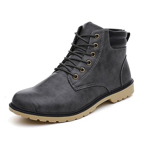Toamen Botines Bajos De Invierno De Tobillo Hombres del Ajuste Bajo del Tobillo MartíN Zapatos (