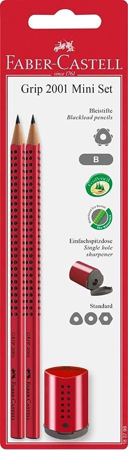 Bleistift Grip 2001 rot Faber Castell Mine Härtegrad 2= B