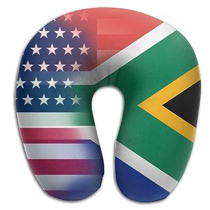 Amazon.com: XUQI-HOME USA South Africa Flag Print Soft Neck ...