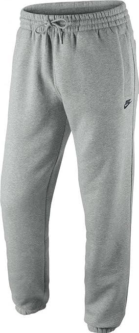 Nike - Pantalon Homme Jogging Sport Laine Polaire Bas Jogging Logo Brodé Gris - Gris Marne