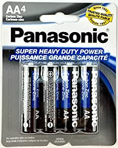 Amazon.com: 4pc Panasonic AA Batteries Super Heavy Duty
